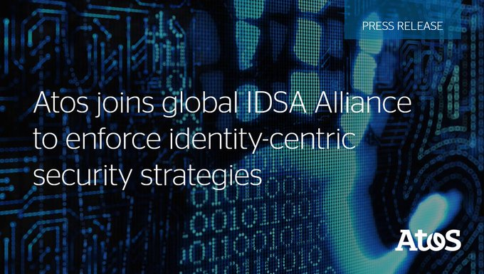 🆕 Atos announced that it has joined The Identity Defined Security Alliance (#IDSA),...