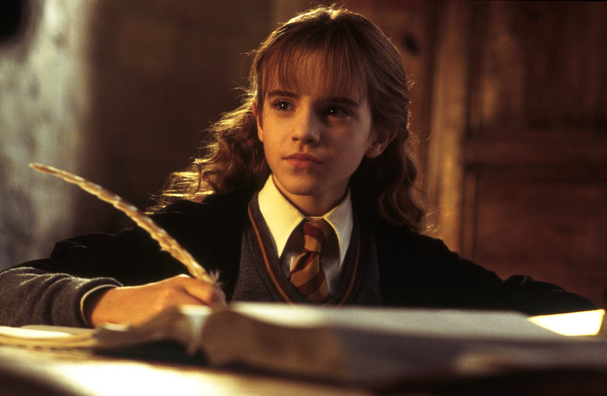 """Books! And cleverness! There are more  important things – friendship and bravery"" and, sometimes, birthdays! Happy birthday Hermione Granger, the brightest witch of her age. <br>http://pic.twitter.com/jrVyZKW9GQ"