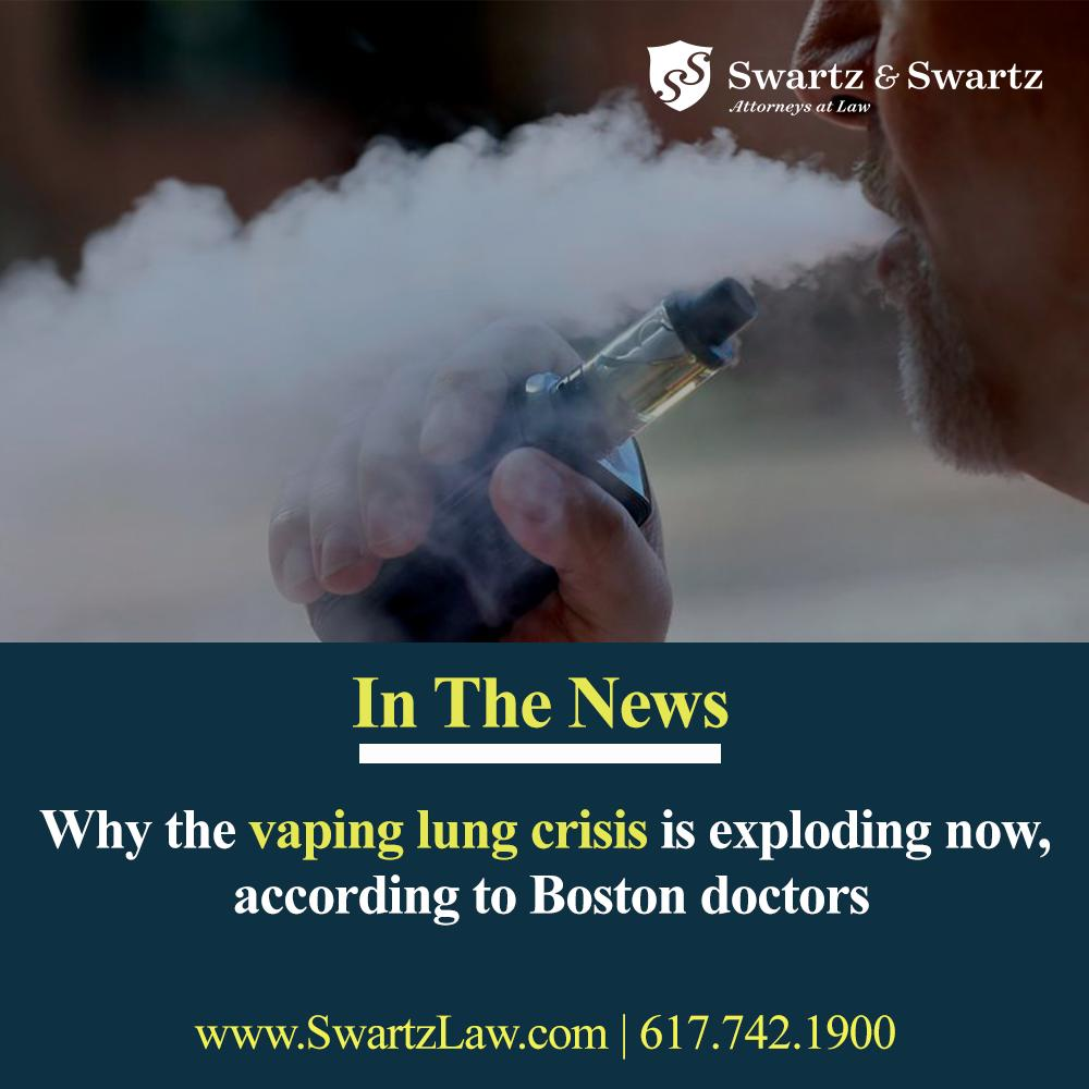 The teens were among the seven patients Boston Children's Hospital has seen over the past year and a half believed to be suffering from vaping-related lung illness that has recently roiled the country, leaving seven dead & 380 hospitalized.  http://ow.ly/ft3F50wf6Ru   #bostonglobe