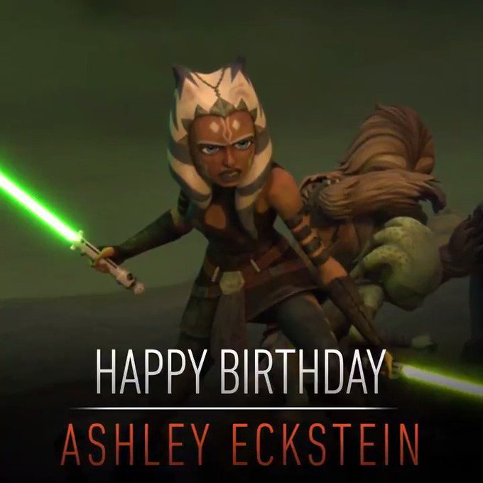 Hey, Snips! Happy birthday to Ashley Eckstein! Wish the voice of Ahsoka Tano well in the comments below...