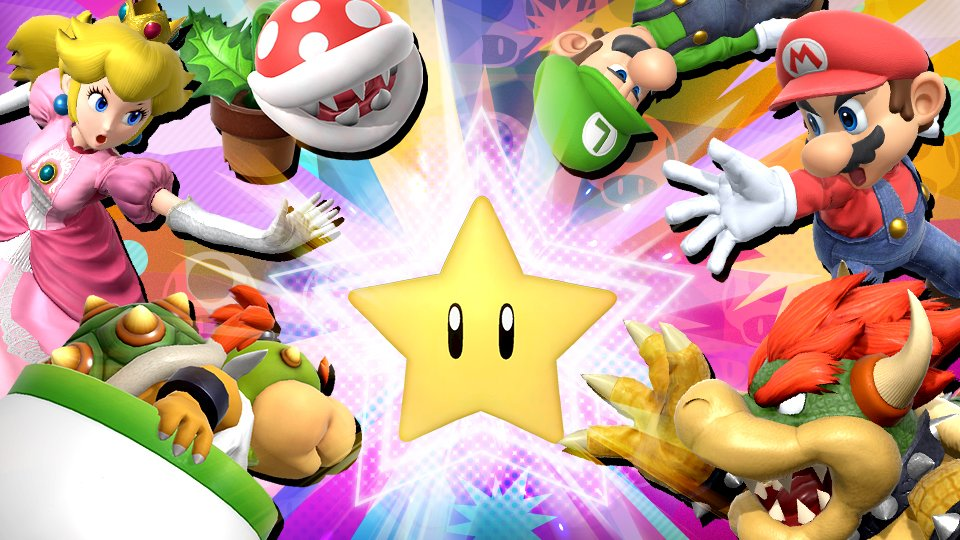"""A new #SmashBrosUltimate Tourney Event """"The Next Big Super Star"""" will begin today! This time-limited tourney features fighters and stages from the Super Mario series. The further you advance, the better the spirit you'll win!"""