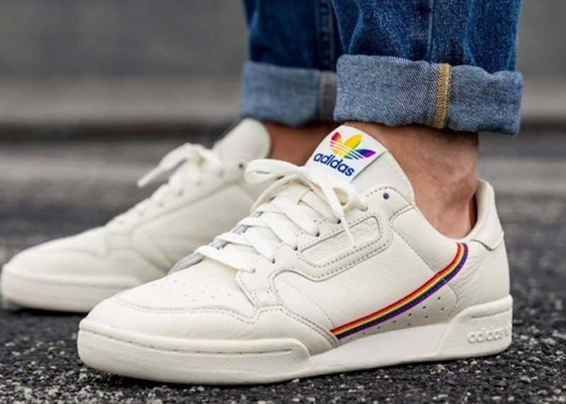 Image for the Tweet beginning: adidas Continental 80 Pride Sale