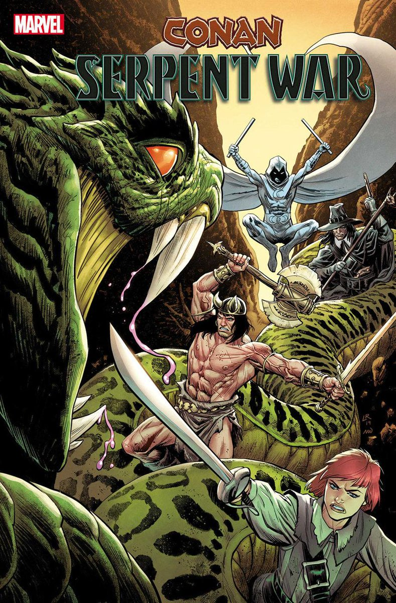 @jared_webb1 @Mitch692 @WeaponXKP21 @AKARELK @SuperSuitShow @The_GWW Moon Knight been time traveling a lot. Is dat going to be his new thing? CONAN: SERPENT WAR #1 & #2 (OF 4) JIM ZUB (W) • Issue #1 - SCOT EATON (A)