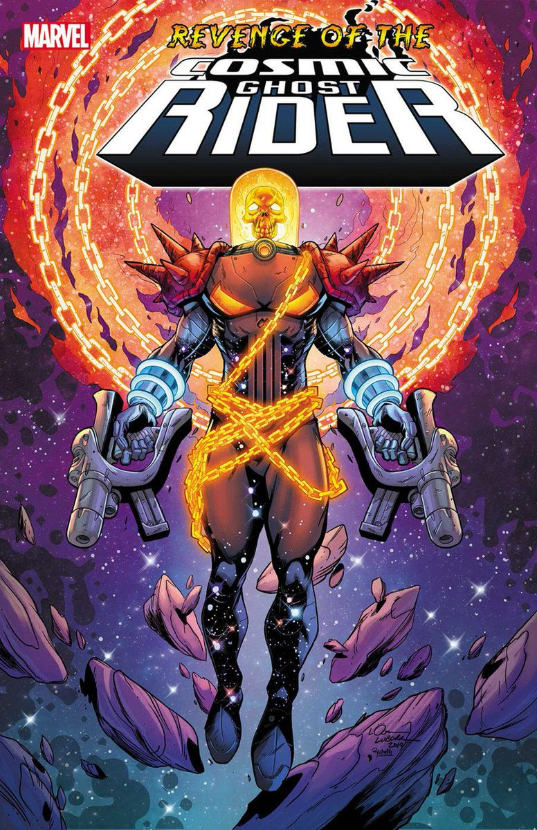 "@jared_webb1 @Mitch692 @WeaponXKP21 @AKARELK @SuperSuitShow @The_GWW @rdauterman ... REVENGE OF THE COSMIC GHOST RIDER #1 (OF 5) Dennis ""Hopeless"" Hallum & Donny Cates (W) Scott Hepburn & Geoff Shaw (A) Cover by Scott Hepburn"