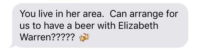 When mom thinks you have the hook up with @ewarren 😭