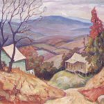 """Happy first day of #Fall! Check out the 1937 painting """"Autumn"""" by Isaac Fastovsky, part of the GSA Fine Arts Collection on loan to @gvcarts: https://t.co/XD6QVBqwfJ"""
