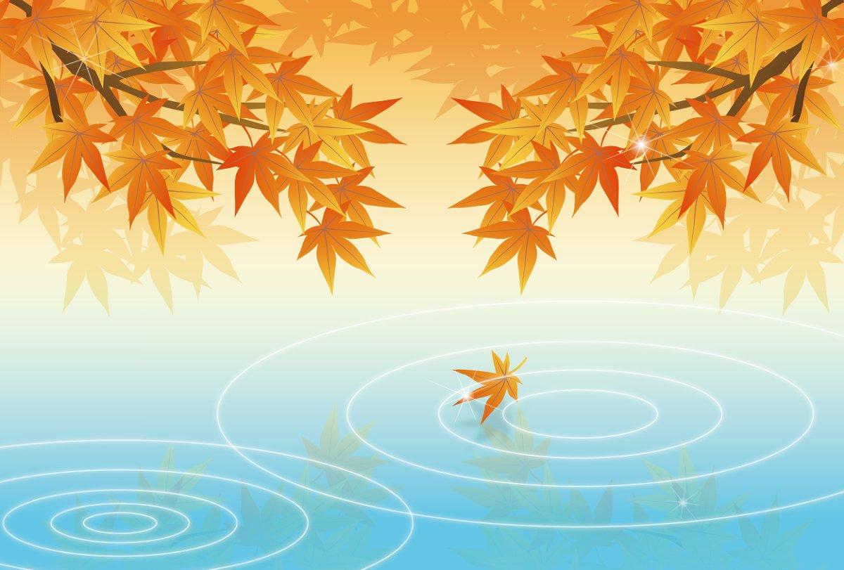 紅葉と水辺
