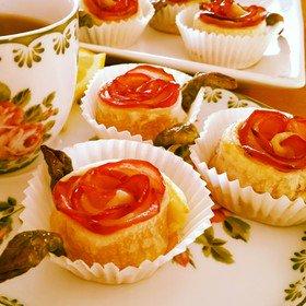 真紅のバラのアップルパイ