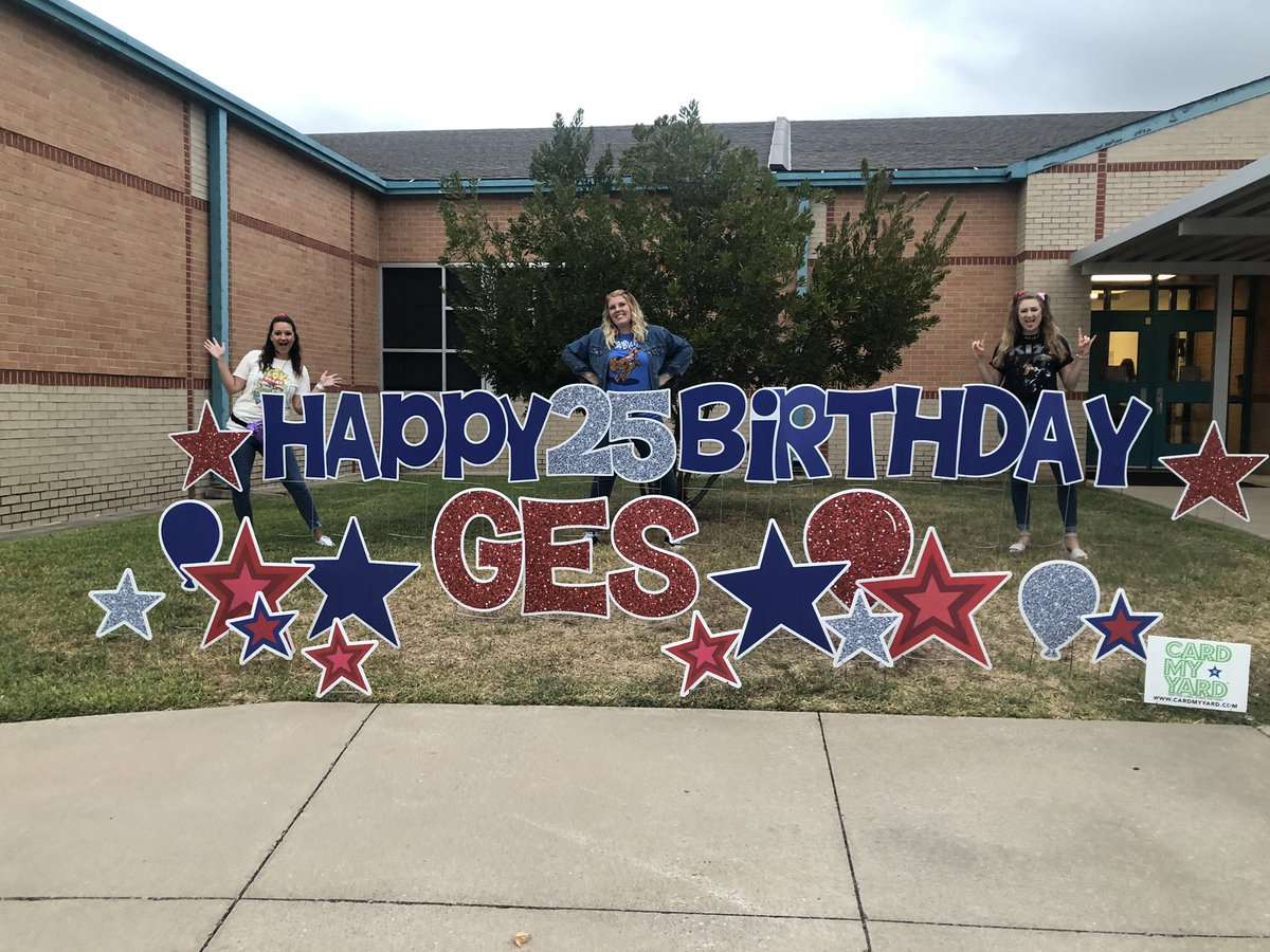 Our day is off to a rockin' start! Happy 25th Birthday @GESStars 🥳🤩 #rockyourschool2019 #90sbaby #GesShineOn