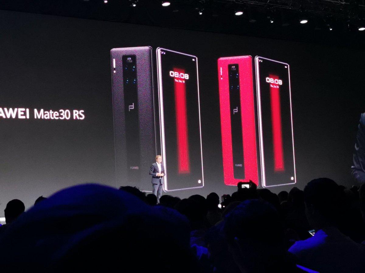 También se ha presentado el Huawei Mate 30 RS #RethinkPossibilities #HuaweiMate30