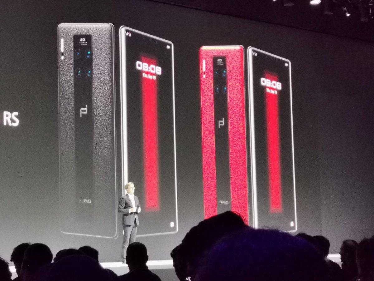 El Huawei Mate 30 RS tiene un diseño más agresivo con trasera de piel y estará disponible en negro o rojo/negro   #HuaweiMate30