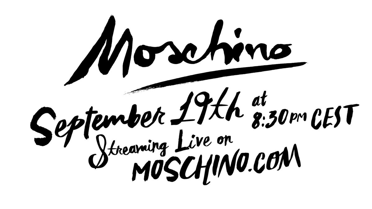 Dont miss the Moschino S/S20 fashion show! Streaming live from Milan at 8.30pm tonight on our @YouTube  channel:  https://www.youtube.com/watch?v=TYiqnfFCSXU  …  #Moschino  #MFW  #YouTubeFashion