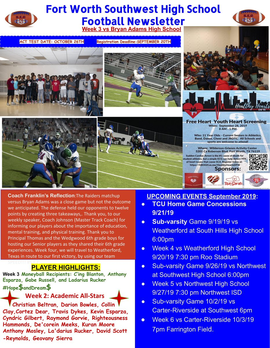 Southwest High School (@Southwest_HS) on Twitter photo 20/09/2019 00:28:13