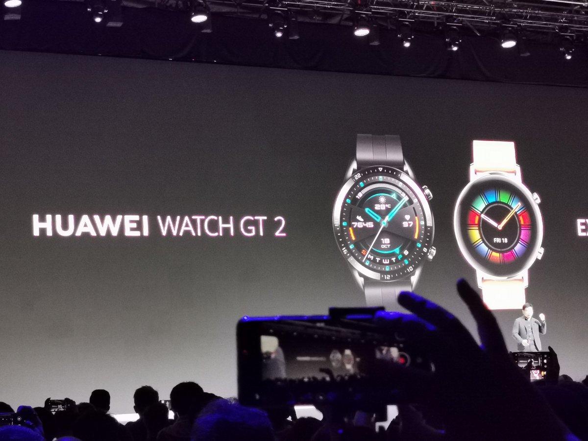 También se presenta el Huawei Watch GT2 #RethinkPossibilities #HuaweiMate30
