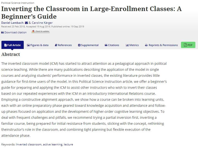 test Twitter Media - Want to invert your classroom in #polisci teaching? Caroline Kärger have just published a short beginner's guide in @JPSE_Editors. Get your copy here: https://t.co/JM11ngMeoq. #powilehre #flippedclassroom https://t.co/mkSlYxf9Tn