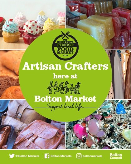 Saturday 28th September. Bolton market. Artisan craft meets Traditional traders. @VisitBolton @BoltonTweetUp @boltoncouncil @BoostingBolton @BoltonMarkets @PurpleFishCraft @thecrazyladies @bearinmindkeeps @ShopLocalClub @Marketshoppers @HandmadeSellers @CraftBizParty @ShopLocal_<br>http://pic.twitter.com/gbrbyIYPYZ