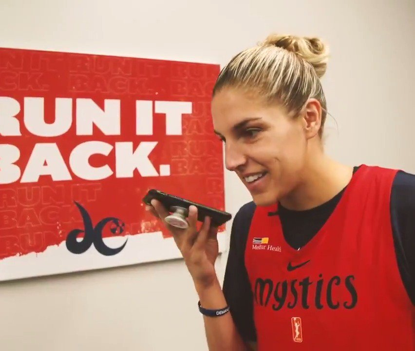 This is the best 😭How @De11eDonne found out she's the MVP:  (via @WashMystics)