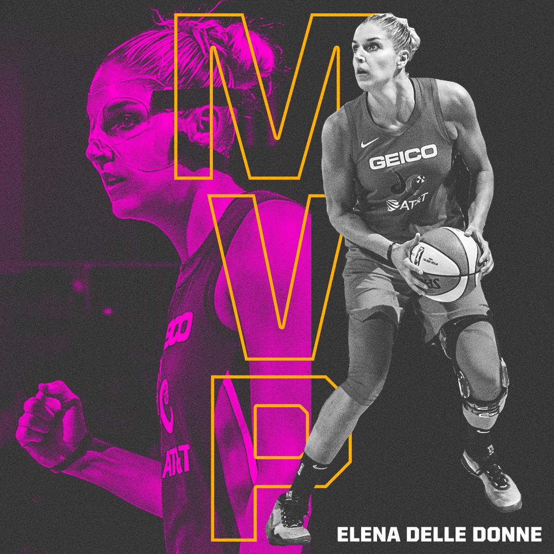 Elena Delle Donne is your 2019 WNBA MVP! 👏🔹 41 of 43 first-place votes 🔹 19.5 PPG🔹 8.3 RPG 🔹 First WNBA player ever the 50/40/90 club