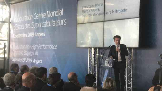 "@ChristopheBechu, Angers' mayor ""Atos has chosen #Angers to install its #HPC Test Center...."