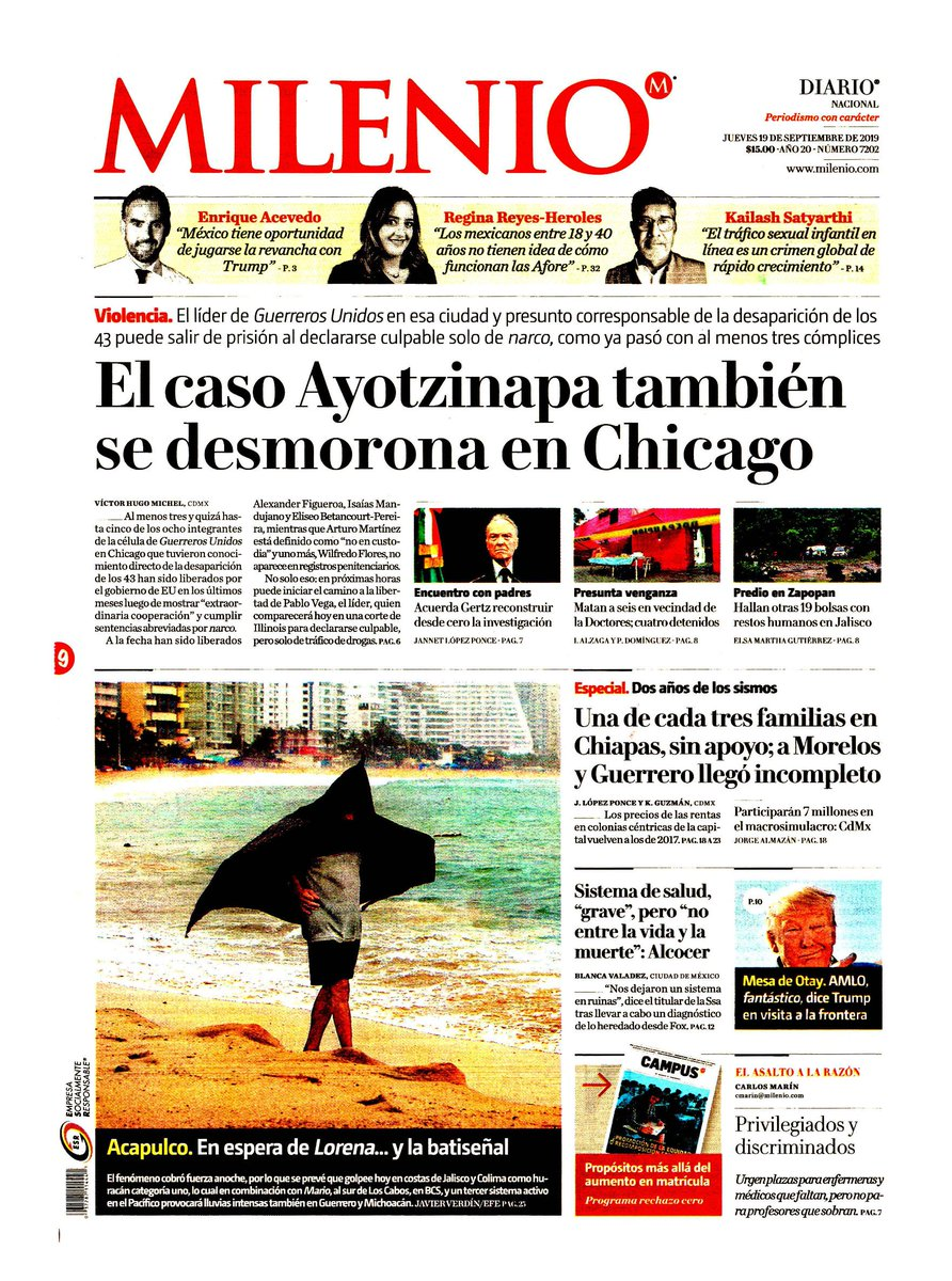 #Las8Columnas #Milenio: El caso Ayotzinapa también se desmorona en Chicago