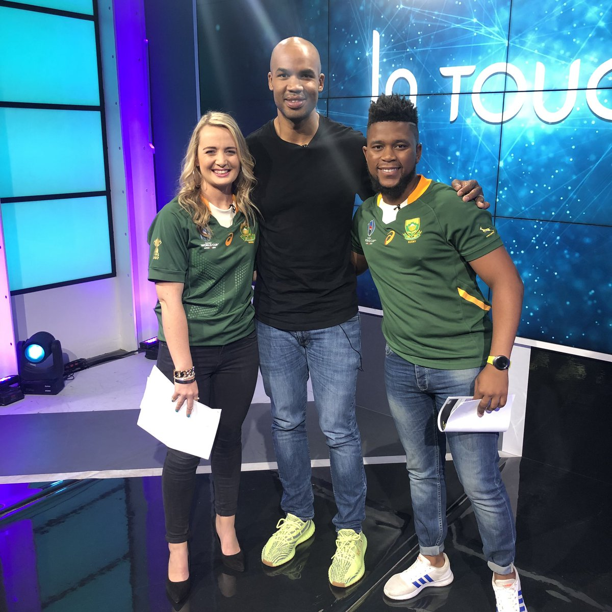 #InTouch is back, just in time for #RWC2019 🏉 We have two new hosts in @catolouw and @SamLudidi and a number of fantastic guests over the coming weeks. First up is @Springboks legend and World Cup winner @jppietersen14 👏 Watch LIVE on Facebook >> bit.ly/InTouchJPPiete…