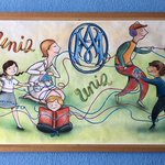 Image for the Tweet beginning: Los murales del cole nos