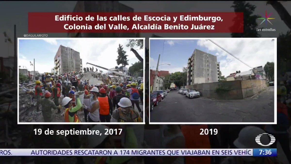 Cinco fotografías, tomadas por el fotógrafo Daniel Aguilar, nos muestra el antes y después del sismo 19S en igual número de lugares.#Despierta con @campossuarez y @daniellemx_