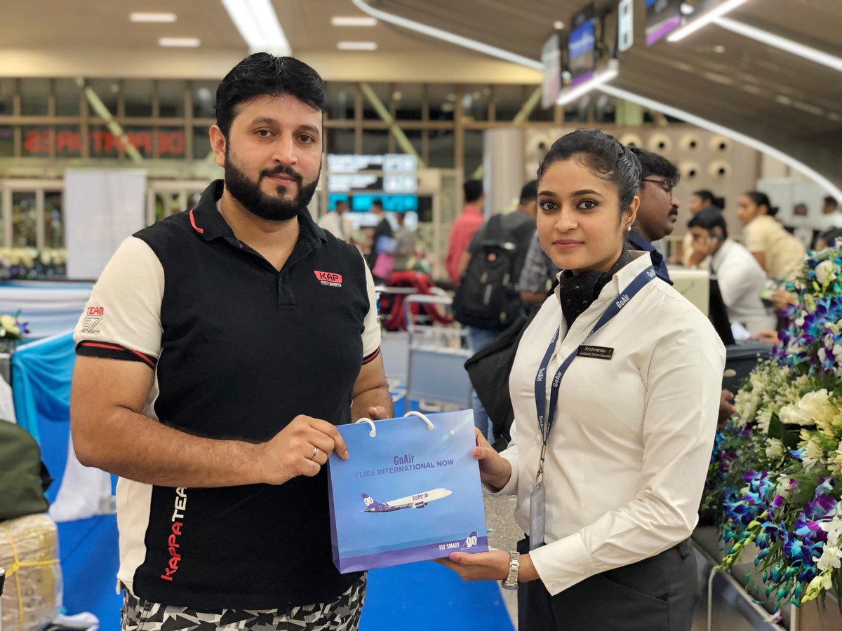 Goodie bags for our Smart Flyers! 🛍#InaugralFlight #Kannur #Kuwait #FlySmart
