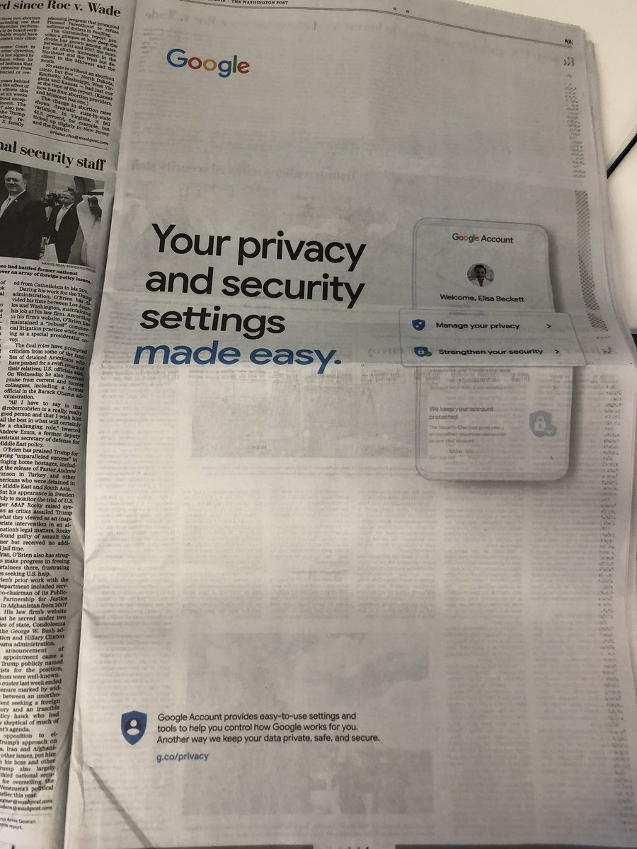 Google Took Out 3 Full-Page Ads Declaring Its Commitment to Privacy. Here's What It Should Do Instead