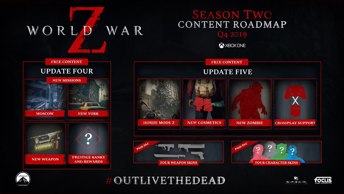 New Missions, Horde Mode Z, Prestige Ranks and more are coming to World War Z in Season 2 of free content updates! Get World War Z on @Xbox and face the endless hordes: https://www.microsoft.com/p/world-war-z/bwq5fc9wdj6h…