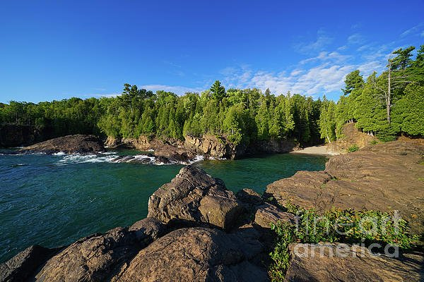 "Fantabulous summer morning on Lake Superior! - ""A Presque Isle Morning"" -  @shoppixels  #lakesuperior #marquette #michigan #presqueislepark"