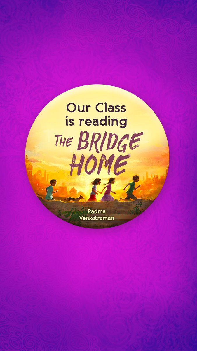 Celebrating 5(for text)+3(Audio)= 8 stars for #TheBridgeHome w/ a #GRABridge #ProjectLIT 3 #author skype visits + 5 (T-shirt&class set of bookmarks) #giveaway = 8 #giveaways RT Follow Tell me by 9/23 about a wonderful teacher you had in honor of Viji who loves Parvathi Teacher