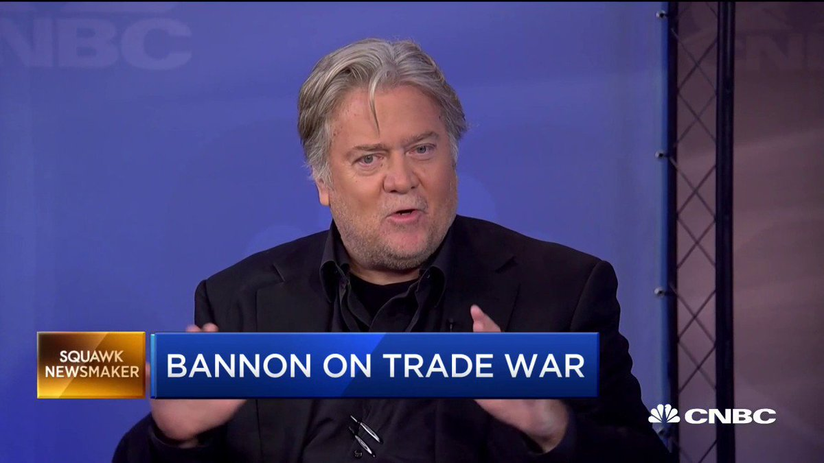 """This economic war has many aspects to it."" Steve Bannon said earlier today that China has been waging economic war against the West for 20 years. #deliveringalpha   https://cnb.cx/30vvmSr"