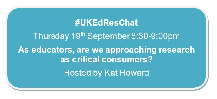 It's #UKEdResChat day 🙌 Join @SaysMiss this evening at 8:30