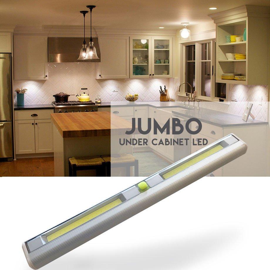 $6.49 (reg $28) Jumbo Size Wireless Under Cabinet LED Light👉http://bit.ly/2ROuLZg#Sales #Deals #CabinetLight #wednesdaymorning