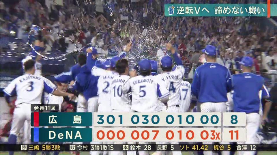 ⚾️勝った日のスポーツニュース(2019.9.19)#baystars