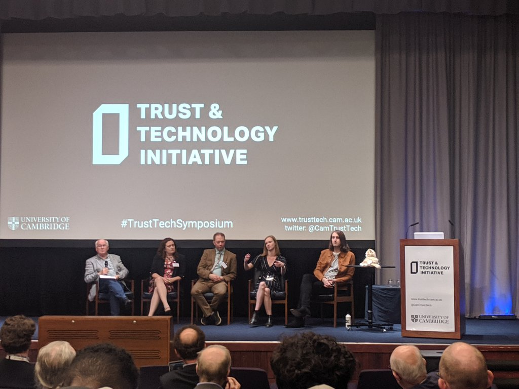 Insightful first panel of #TrustTechSymposium by @CamTrustTech on ever more granular targeting, manifested aspiration of scripted AI, pitfalls of automating law and the councils perspective on dynamic digital interventions. Looking forward to the coming sessions! #sustainability