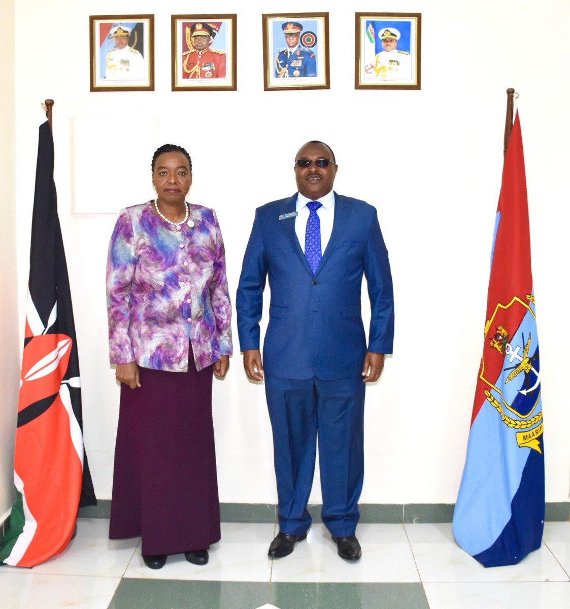 With Lt. General Mulata, Commandant NDC