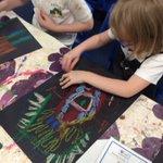 Image for the Tweet beginning: Class 2 children were designing