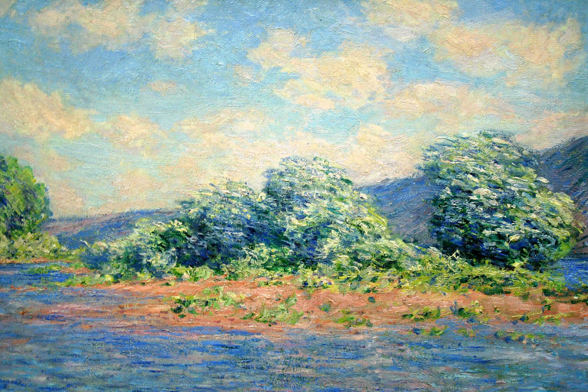 """Claude Monet on Twitter: """"The Seine at Port-Villez, 1883 #impressionism  #claudemonet… """""""