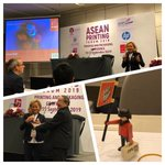 Image for the Tweet beginning: Second day of @ASEAN Printing