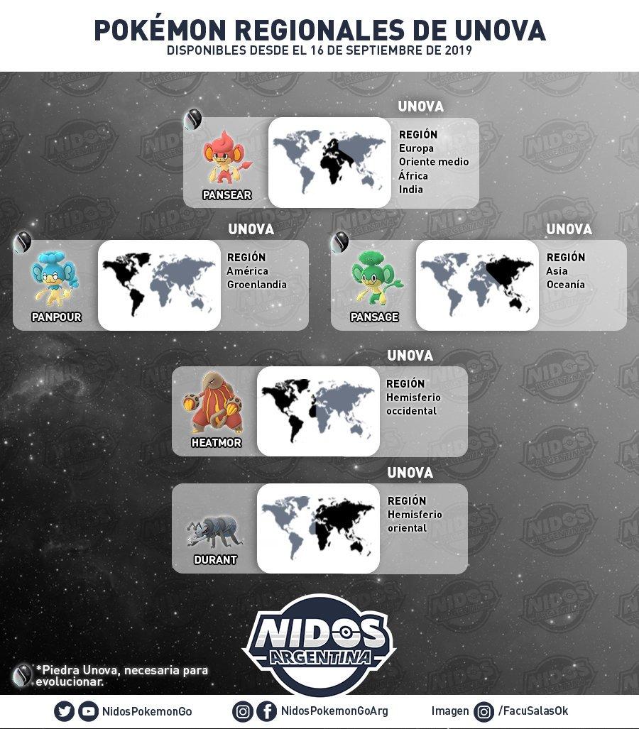 Pokémon Regionales de Teselia hecho por Nidos Pokémon GO Argentina