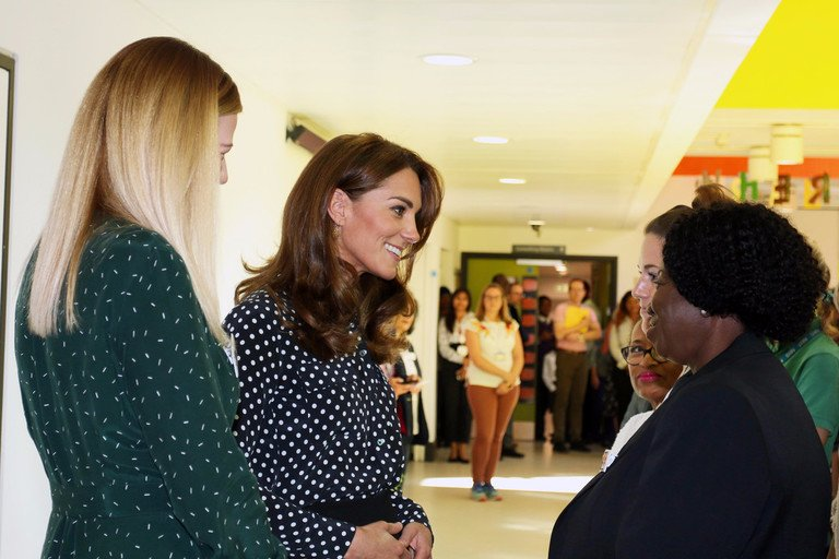 Kate Middleton Wows In Beautiful Black And White Top And Pants Combo