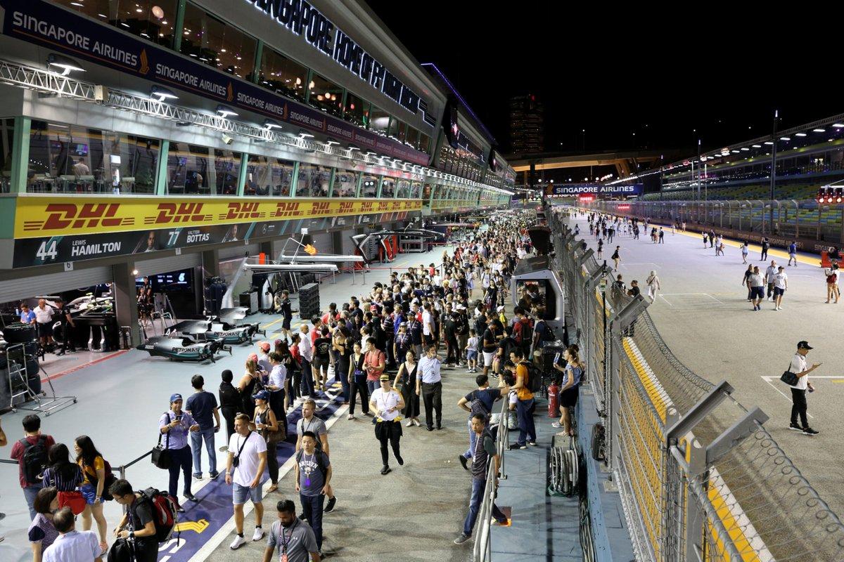 Its pit walk time in Singapore! #DHLF1 #F1 #SingaporeGP
