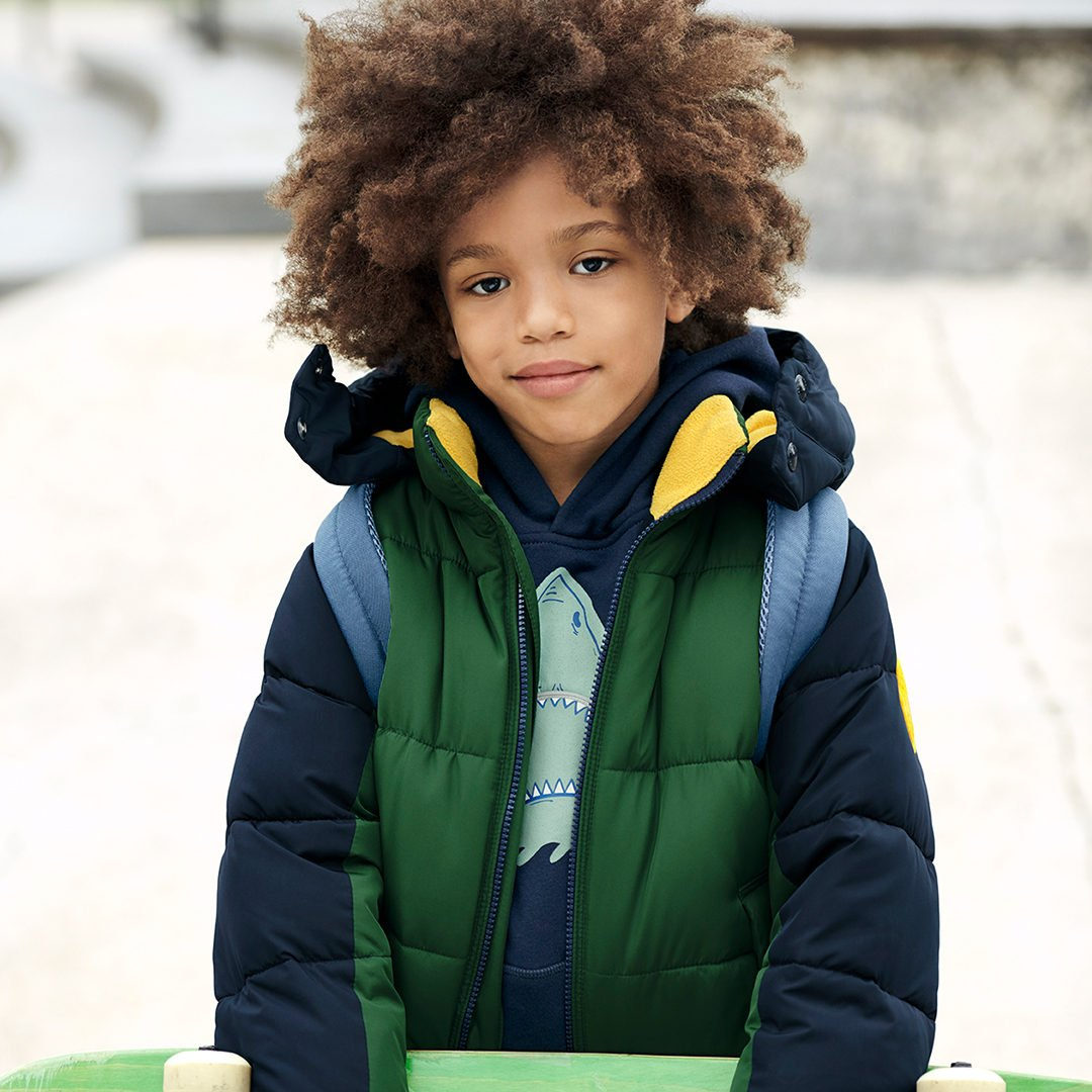 One soft hoodie, one cozy puffer, two cool for school. likeshop.me/gapkids #GapToSchool