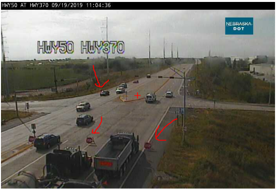 Image posted in Tweet made by Omaha Hwy Conditions on September 19, 2019, 4:13 pm UTC