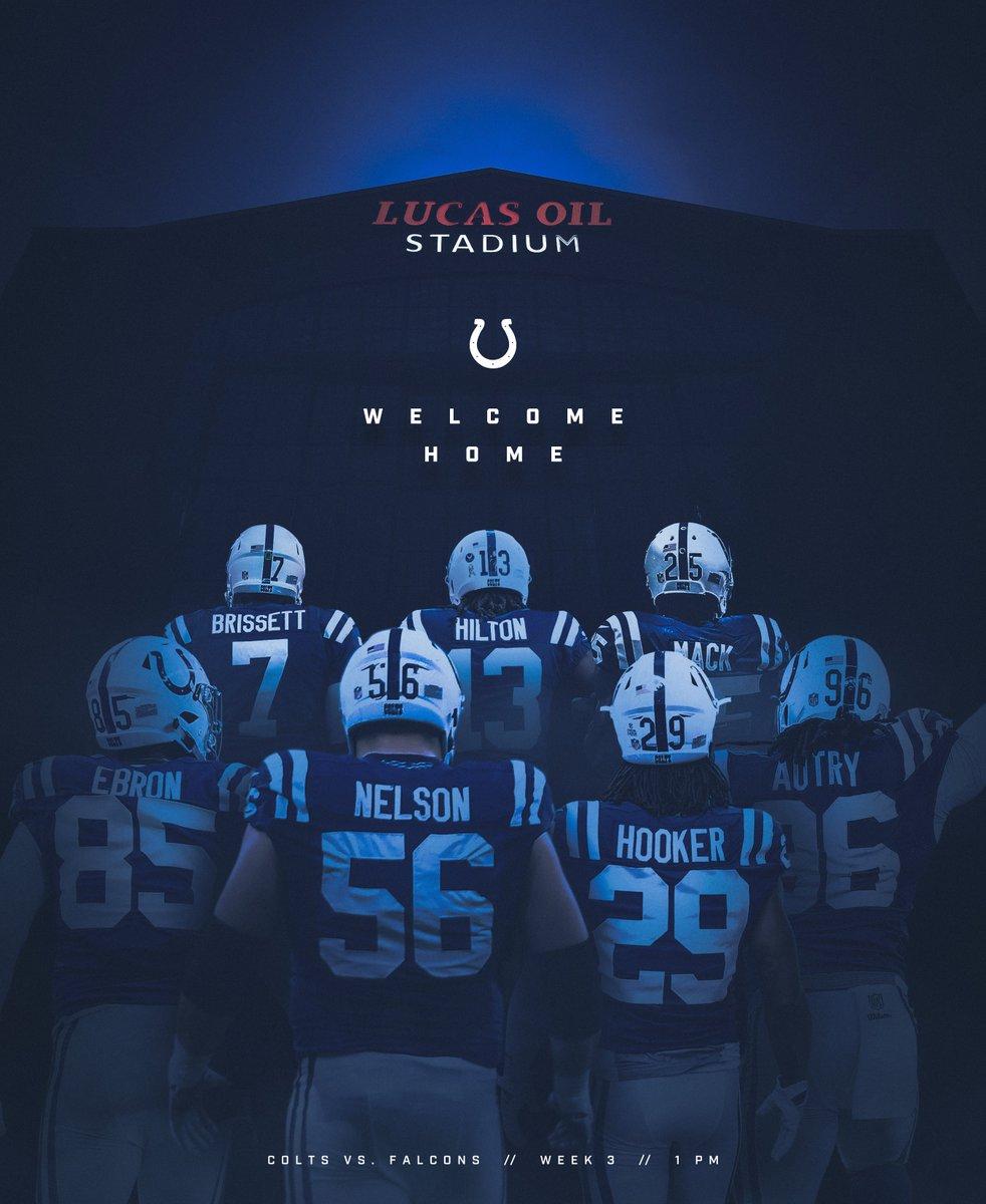 Back 🏠. #Colts | #ATLvsIND