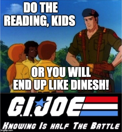 I always thought Spiderman was kind of a pansy, but the GI Joe logo makes my heart hurt. Now you know. . . @KevinMKruse twitter.com/DineshDSouza/s…