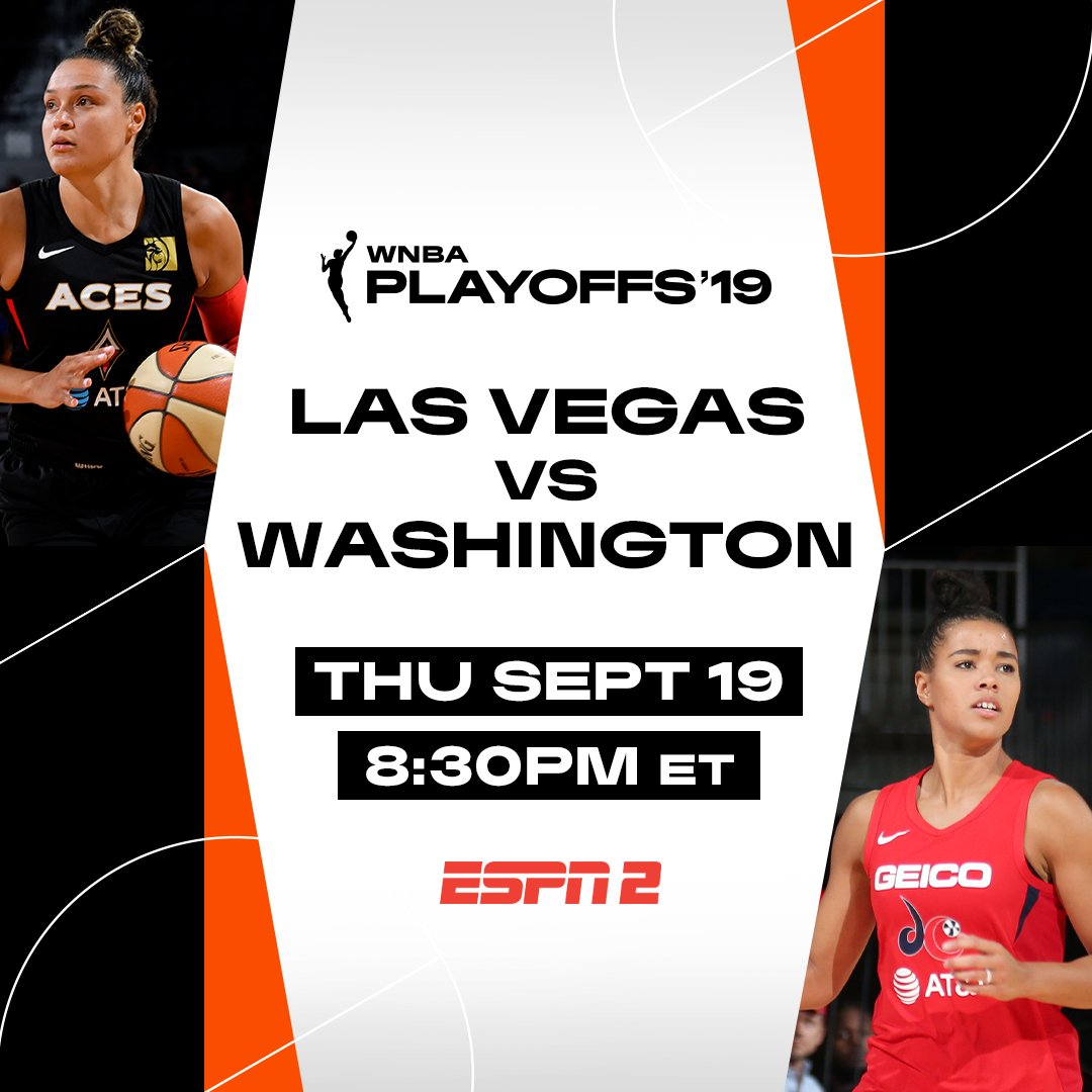 Fresh off a Game 1 victory, the @WashMystics host the @LVAces in Game 2 of the #WNBA Semifinals tonight on ESPN2 (8:30PM/ET) 🏀