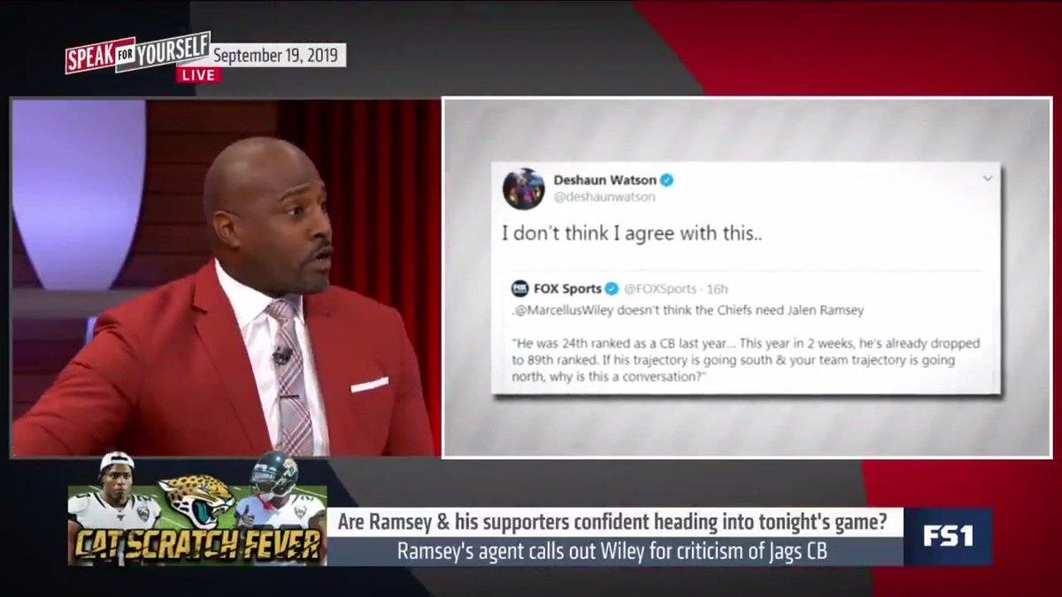.@MarcellusWiley claps back at @JalenRamseys agent @DavidMulugheta 🔥🔥🔥 There's a difference between being an agent & being representation… These millennial agents, getting certified in glamour school, get their feelings hurt— They cant take the same smoke they delivered.